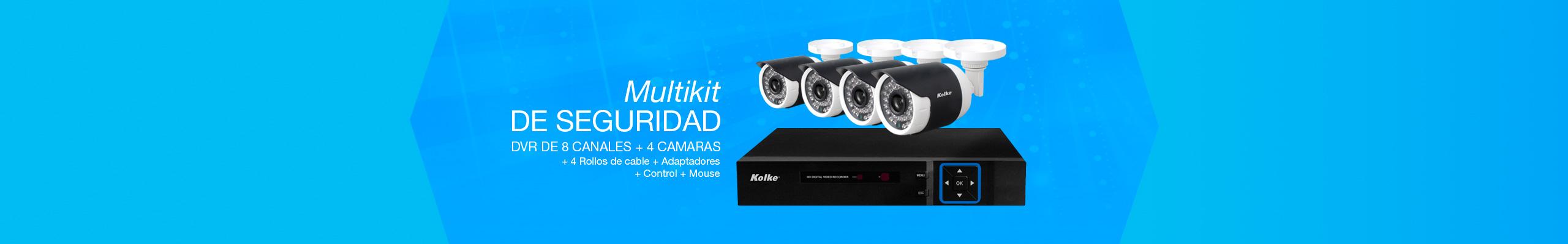 Multikit de Seguridad Kolke DVR 4 cámaras y 8 canales