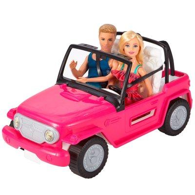 Barbie y Ken en auto convertible de playa al mejor precio solo en loi