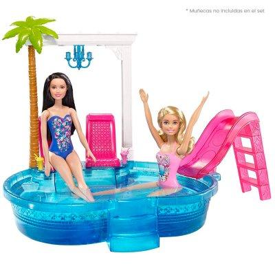 Piscina Glam Barbie de plastico traslucido resistente al mejor precio solo en loi