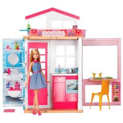 Casa Glam de 2 pisos con muñeca Barbie al mejor precio solo en loi