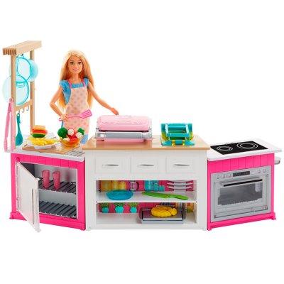 Barbie Cocina y Diviértete con 20 piezas temáticas al mejor precio solo en loi