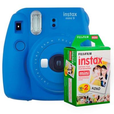 Fujifilm instax mini 9 Instantanea Blue + Twin Pack al mejor precio solo en loi