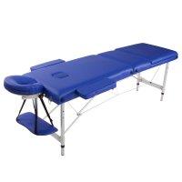 Camilla Masajes Aluminio Profesional Plegable / Azul al mejor precio solo en loi