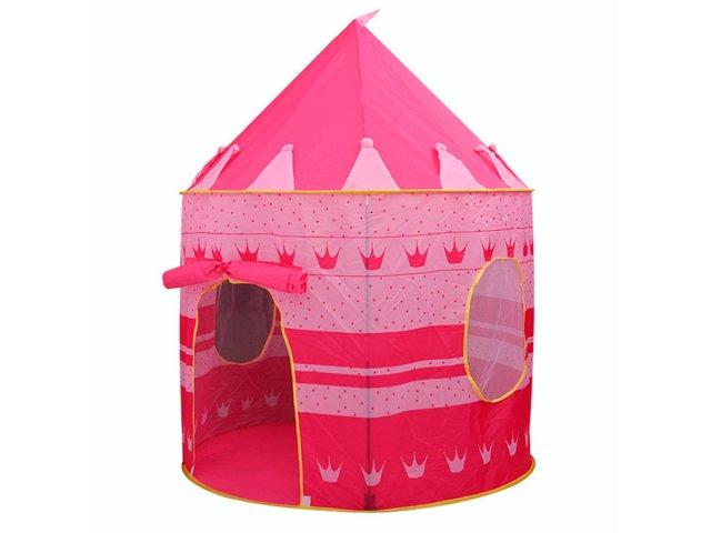 Carpa Castillo Infantil con Mosquitero Color Rosado al mejor precio solo en loi