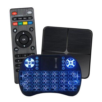 Combo Smart Tv Box X1 4K 1GB 8GB + Teclado con Luces al mejor precio solo en loi