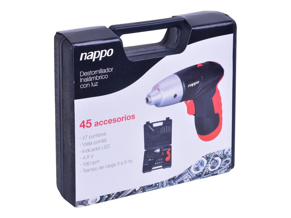 Destornillador inalámbrico Nappo con accesorios al mejor precio solo en loi