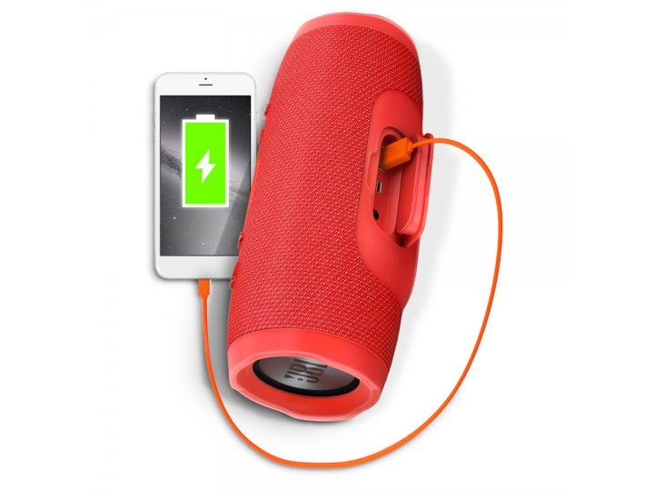 Parlante JBL Charge 3 Bluetooth Waterproof Rojo al mejor precio solo en loi