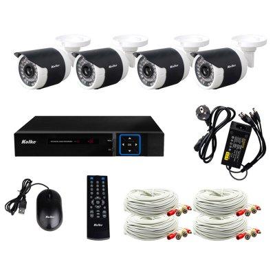 Multi kit de seguridad Kolke FullHD DVR 4 cámaras mouse al mejor precio solo en loi