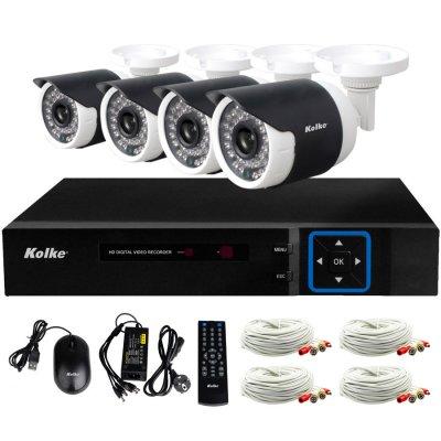 Multikit de Seguridad Kolke DVR 4 cámaras y 8 canales al mejor precio solo en loi