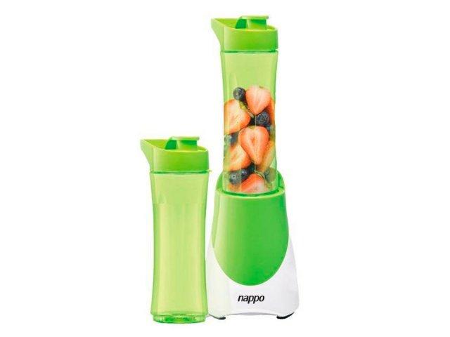 Licuadora Nappo eléctrica portátil con 2 vasos Verde