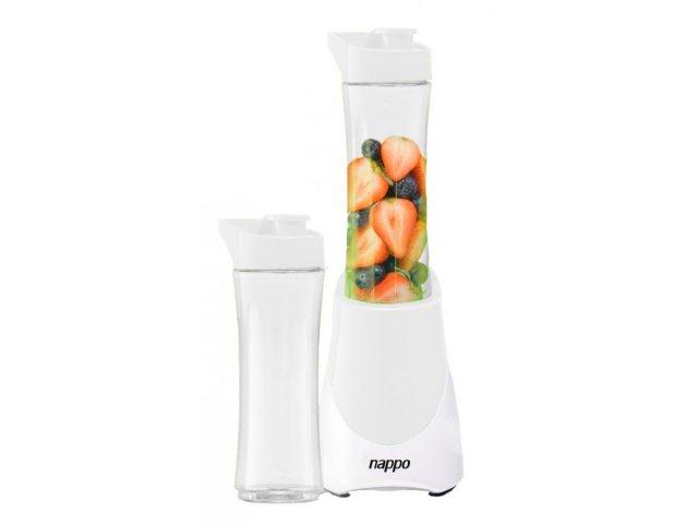 Licuadora Nappo eléctrica portátil con 2 vasos Blanca al mejor precio solo en loi