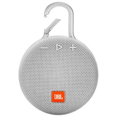 Parlante JBL Clip3 Bluetooth portátil Waterproof White al mejor precio solo en loi