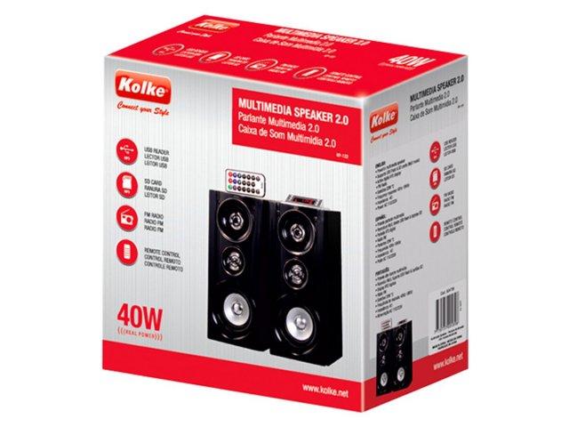 Parlantes Multimedia Kolke USB, SD, FM, color Negro al mejor precio solo en loi