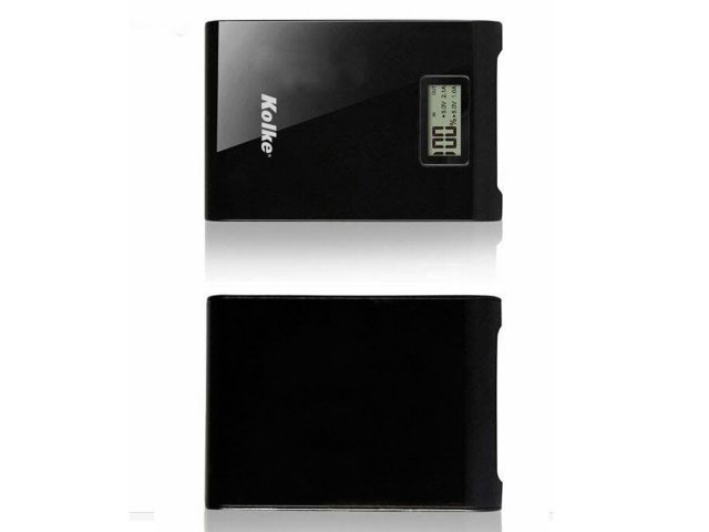 Power Bank de 12.000 mAh con display y linterna Negro