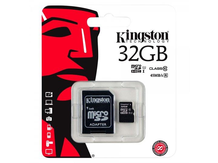 Memoria Micro SDHC Kingston de 32GB Clase 10 al mejor precio solo en LOI