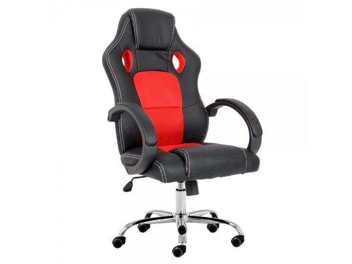 silla gamer para oficina y hogar donna gamer 9043 roja
