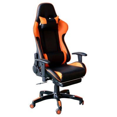 Silla Gamer Reclinable Y008 Naranja c/ Negro al mejor precio solo en loi