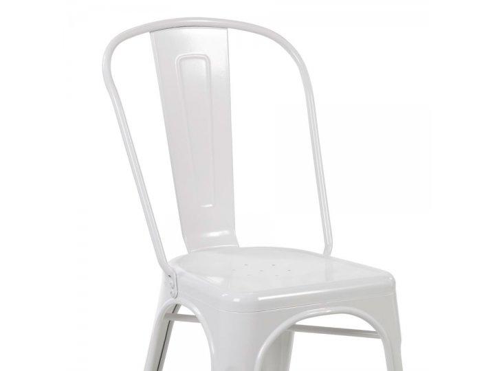 Silla Tolix en acero estilo Vintage Blanco al mejor precio solo en loi
