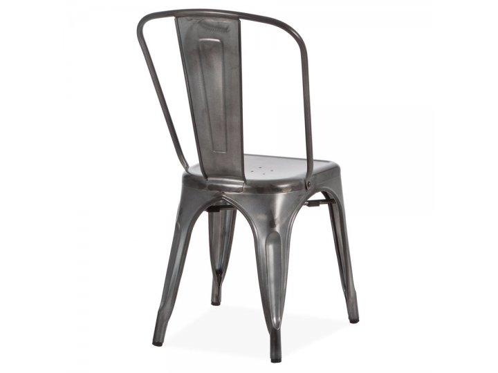 Silla Tolix en acero estilo Vintage Silver al mejor precio solo en loi