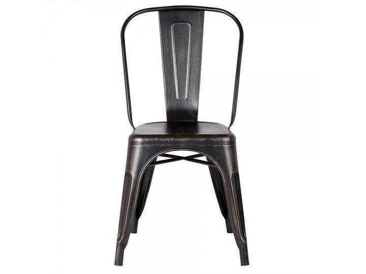 Silla Tolix en acero estilo Vintage Negro al mejor precio solo en loi