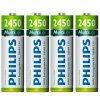 Pilas Philips Recargables AA pack x4 2450mAh al mejor precio solo en loi