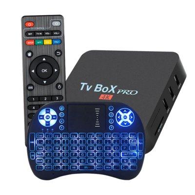 Combo TV Box Pro 4k + Teclado Android retroiluminado al mejor precio solo en loi